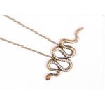 Змея кулон + цепь